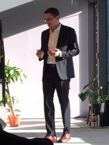 Foto Marco Olavarria beim Vortrag