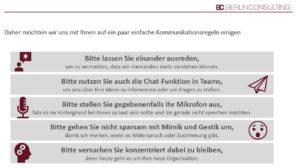 Berlin Consulting Web-Workshop: Kommunikationsregeln
